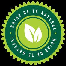 Elaborado con hojas de té natural